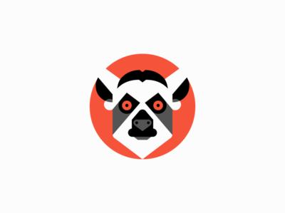 Lemur icon concept mascot character lemur animal sale symbol geometric branding design vector animals mark identity logo