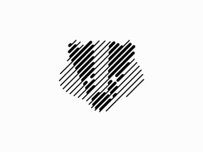 Badger line art badger lines line animal sale geometric branding design vector animals mark identity logo