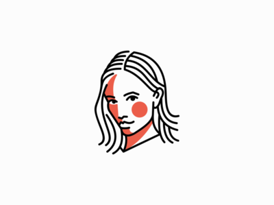 Elsa the News Robot swedish robot news face woman girl lines portrait geometric branding design vector mark identity logo