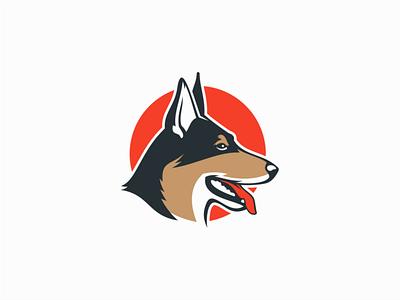 Dog australian shepherd puppy pet dog animal illustration sale symbol branding animals design vector mark identity logo