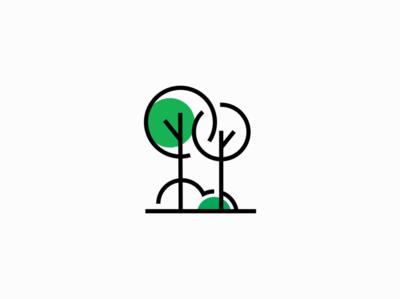 Trees trees tree nature art nature illustration sale symbol geometric branding design vector mark identity logo