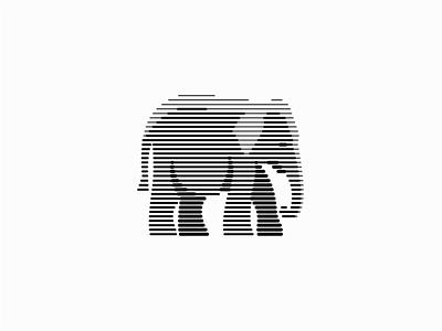 Elephant big wild scratchboard line lines elephant illustration sale symbol geometric branding animals design vector mark identity logo
