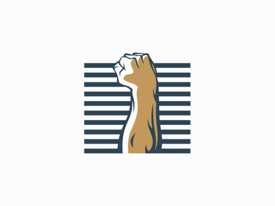 Raised fist revolution fist illustration sale symbol branding design vector mark identity logo