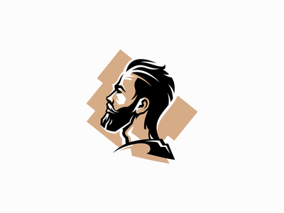 Bearded man and pirate themed logo soccer pirate bearded beard portrait illustration geometric symbol branding design vector mark identity logo