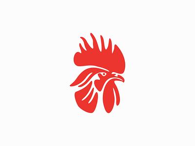 Rooster original graphic symbol emblem creative modern professional unique simple premium negative space brand concept design logo farm bird cock chicken rooster