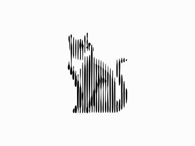 Cat modern original emblem professional unique scratchboard lines line kitten cat sale geometric animals symbol branding design vector mark identity logo