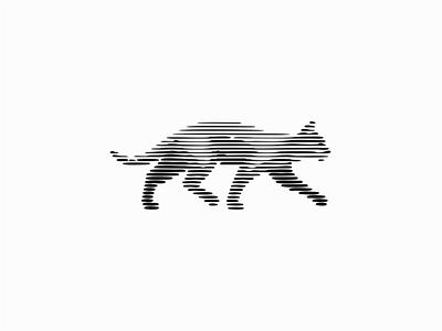 Cat feline modern original scratchboard line art kitty pet cat line illustration sale geometric animals symbol branding design vector mark identity logo