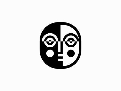Mask creative elegant modern professional emblem icon premium clean face mask illustration sale geometric symbol branding design vector mark identity logo