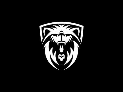 Roaring Bear premium unique creative modern negative space wild animal roaring roar bear illustration sale animals symbol branding design vector mark identity logo
