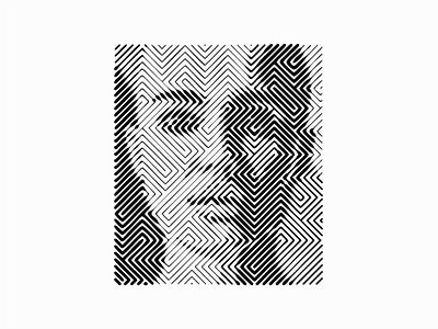 Line Art Face portrait illustration portrait digital art digital psychedelic line scratchboard abstract sergi delgado line art lines people person face illustration design vector