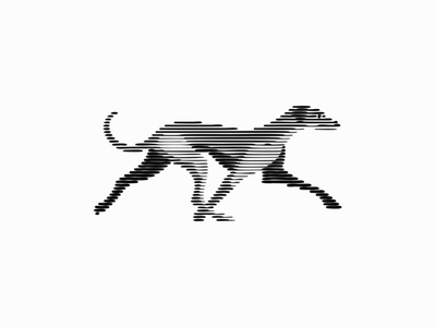 Greyhound Dog modern emblem line art scratchboard original puppy greyhound pet dog animal illustration sale animals symbol branding design vector mark identity logo