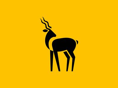 Kudu premium unique modern creative minimalist gazelle africa animal kudu illustration geometric sale animals symbol branding design vector mark identity logo