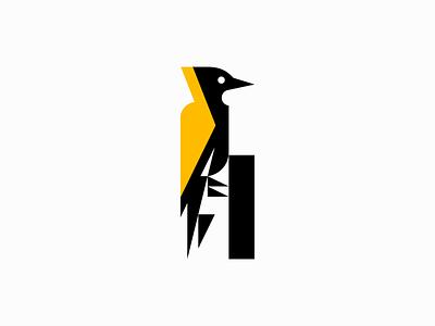 Yellownape Bird premium original emblem modern tree nature animal feathers bird yellownape geometric animals sale symbol branding design vector mark identity logo