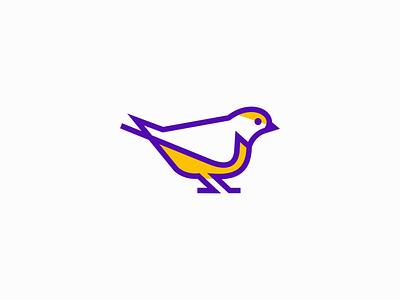 Euphonia Bird Logo premium icon emblem wings cute modern line euphonia bird animal illustration geometric sale symbol branding design vector mark identity logo