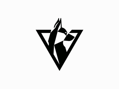 Geometric Dog Logo icon k9 puppy vet pet triangle geometric dog graphic design illustration symbol branding design vector mark identity logo