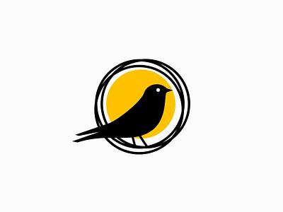 Bird and Nest Logo icon emblem graphic modern minimalist nature animal nest bird illustration symbol branding design vector mark identity logo