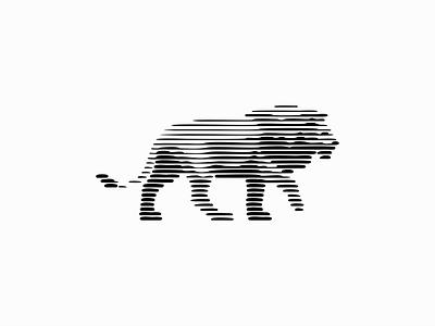 Line Art Lion Logo sale premium original modern scratchboard line lines king animal lion illustration symbol branding design vector mark identity logo