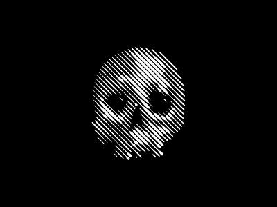 Scratchboard Skull Patch Design emblem icon modern horror dark lines bones skeleton skull scratchboard patch headwear illustration symbol branding design vector mark identity logo
