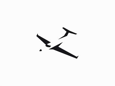 Little Airplane Logo original unique modern negative space transportation wings aviation flight plane airplane illustration symbol branding design vector mark identity logo