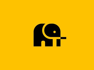 Minimalist Elephant Logo flat simple unique modern abstract animal minimalist minimalism elephant illustration symbol branding design vector mark identity logo