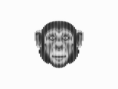 Scratchboard Chimpanzee Logo emblem icon original line lines scratchboard monkey ape chimpanzee chimp illustration symbol branding design vector mark identity logo
