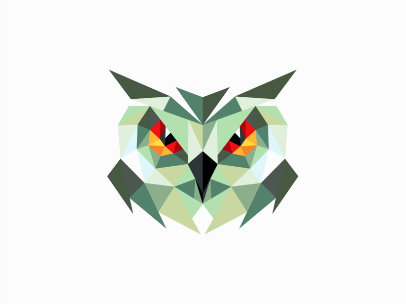 geometric low poly owl