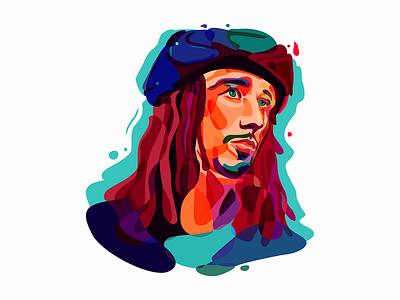 JP Cooper jp cooper colors portrait illustration