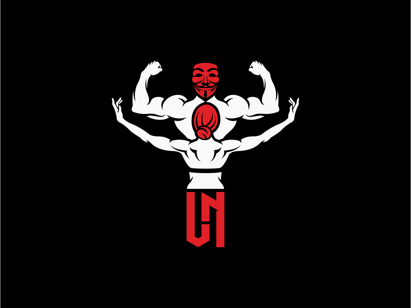 Bodybuilding and Fitness sports branding vector mark monogram mask body fitness bodybuilding logo