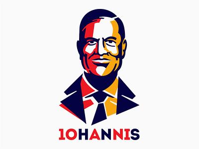 Klaus Iohannis politician romania romanian president iohannis klaus illustration geometric portrait