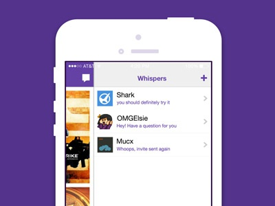 Whispers on iOS ios whispers twitch