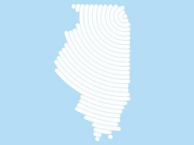 Chicago - Illinois jensenwarner lines illinois chicago vector midwest
