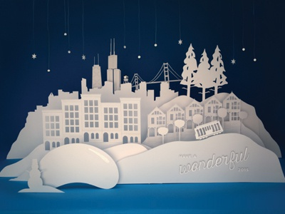 gravitytank Holiday Card 2014/2015 gravitytank jensenwarner holiday card paper cut winter chicago san francisco design