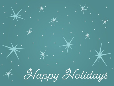 Holiday card concept snow holiday snowflakes