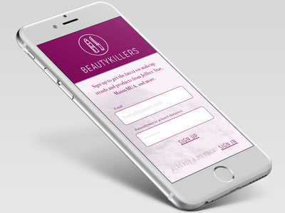 001 Sign up mobile signup dailyui001 001 dailyui