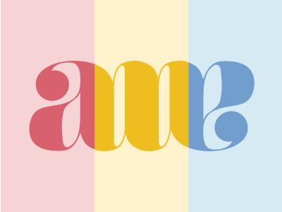 Color exploration type logo letters