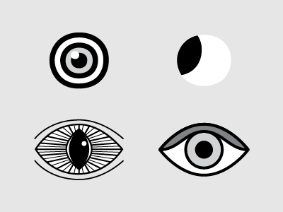 Styl-eyes-ed jensenwarner icon grayscale black and white exploration illustration eye