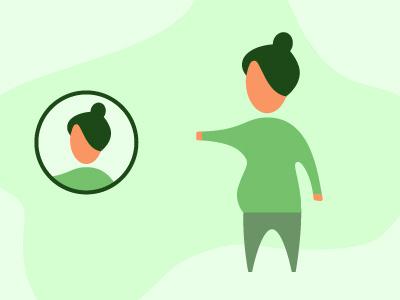 Green Lady character art woman lady green persona character vector design illustration jensenwarner