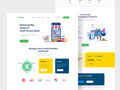Landing page for Client ux vector illustration colour trend 2020 typography project landing page minimal wireframe minimal design client work concepts app logo print project vector branding typography illustration web ui concept content wireframes minimal client work