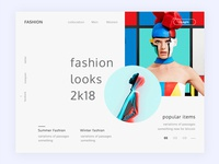 Conceptual Web UI -Fashion website #Exploration