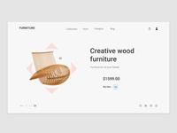 Conceptual Web UI - Furniture  website #Exploration