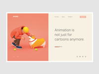 Conceptual Web UI - Animation Agency  #Exploration