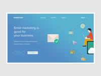 Conceptual Web UI - Email Marketing website  #Exploration