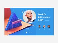 Conceptual Web UI - Billionaires #Exploration