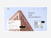 Conceptual Web UI - Architecture Firm #Exploration