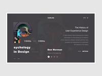 Conceptual Web UI - UX history website  #Exploration