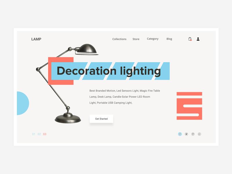 Conceptual Web UI -Product  website #Exploration website webpage webdesign web ui light landing lamp chandelier