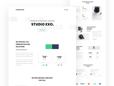 Minimal Agency Landing Page product interface user webdesign startup motion minimal layout free designstudio design agency