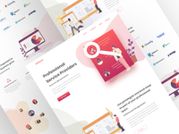 Services providers landing page