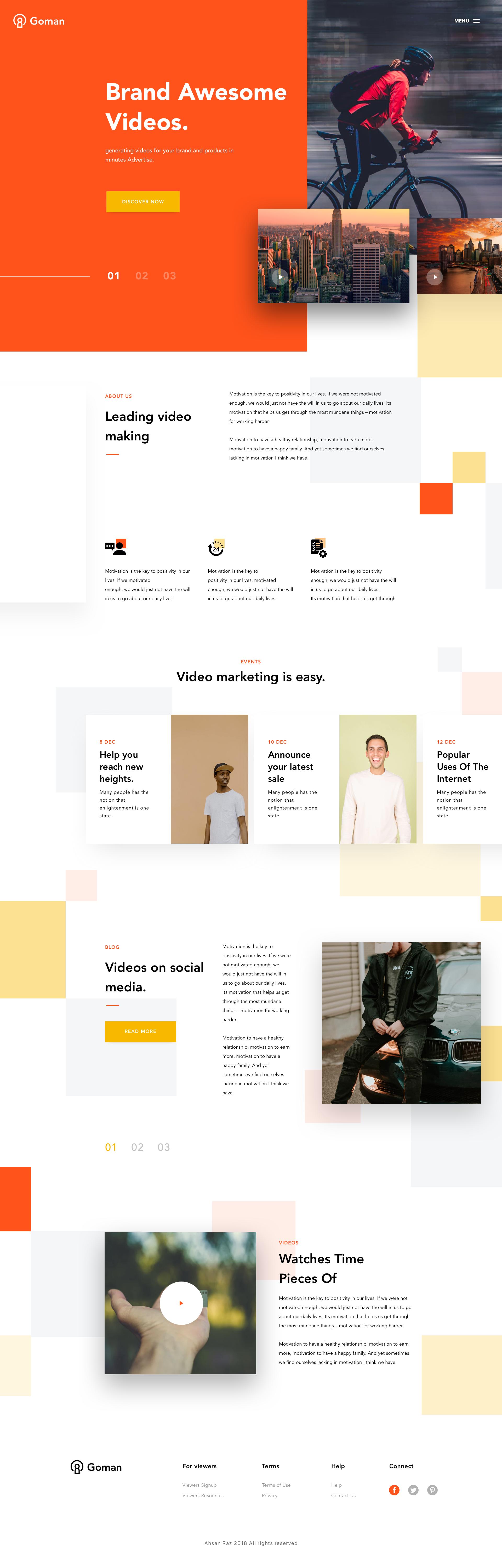 Video advertisement website