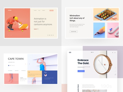 Top 4 of 2018 interface app e-commerce interaction concept clean layout ecommerce agency shop webdesign page product ux minimal design landing website web ui